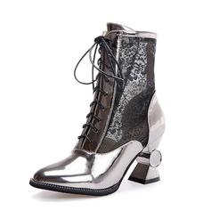 Naisten Keinonahasta Chunky heel Nilkkurit kengät (088091720)