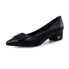 De mujer Piel Tacón bajo Planos Cerrados zapatos (086094408)
