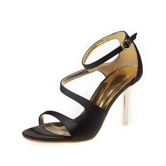 Satén Tacón stilettos Sandalias con Hebilla zapatos (087050194)